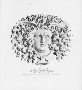 Tête de Méduse, dessiné d'après un bas-relief antique par Chazal jeune